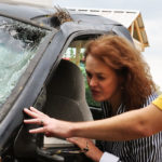 What to do when the rough driver hits you with the car?